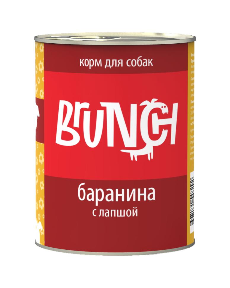 Консервы для собак Brunch Баранина с лапшой, 340 г400109001Консервы Brunch для собак — полноценные мясорастительные корма из натуральных ингредиентов. Помимо мяса и субпродуктов, продукт содержит крупы (каши) и овощи. Рецептура является уникальной разработкой компании. Пропорции определены в соответствии с научными исследованиями, отвечают потребностям домашних животных в питательных веществах. Корм максимально приближен к полному рациону. Состав: баранина, сердце, рубец говяжий, печень, макаронные изделия, масло растительное, желирующая добавка, рыбий жир, пивные дрожжи, йодированная соль, морские водоросли, розмарин, юкка шидигера, ферментированный рис. Вес: 340 г.