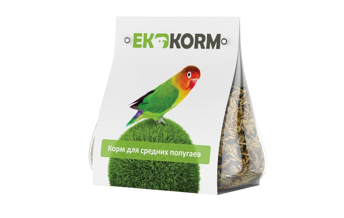 Полнорационный корм для средних попугаев Ekkorm, 400 г500304004Корма для птиц Ekkorm представляют собой сухие зерносмеси. Номинально линейка относится к эконом-классу. Корма являются полнорационными, какого-либо дополнительного питания не требуется. Прозрачная упаковка позволяет удостовериться в соответствии ингредиентов указанным составам. Состав: канареечное семя, просо жёлтое, просо красное, овёс очищенный, пшеница, семена подсолнечника чёрного, семя льна. Вес: 400 г.