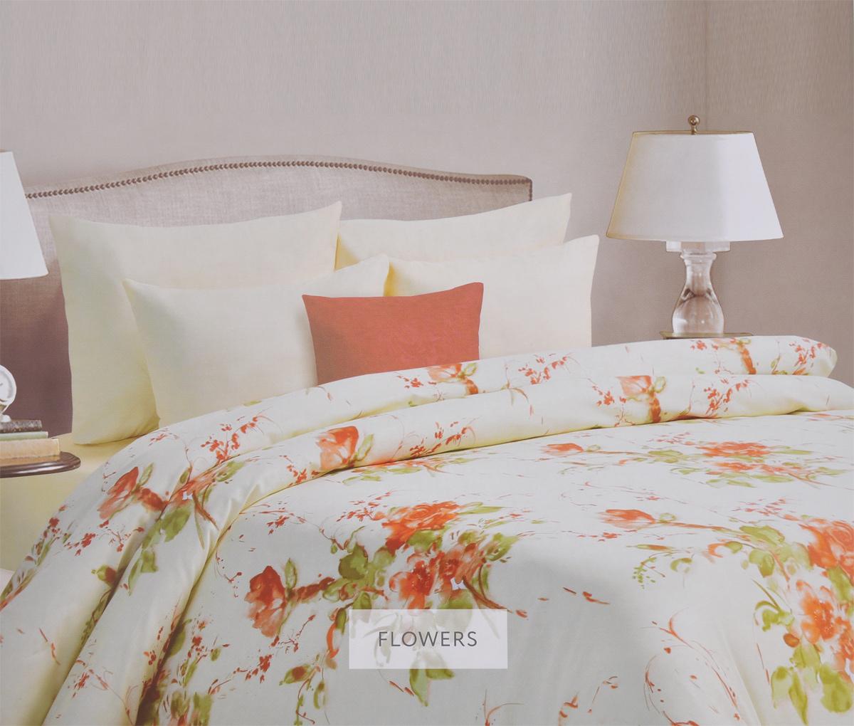 Комплект белья Mona Liza Flowers, 2-спальный, наволочки 70х70, цвет: бежевый, светло-зеленый. 562203/6562203/6Комплект белья Mona Liza Flowers, выполненный из батиста (100% хлопок), состоит из пододеяльника, простыни и двух наволочек. Изделия оформлены красивым цветочным рисунком. Батист - тонкая, легкая, полупрозрачная натуральная ткань полотняного переплетения. Батист, несомненно, является одной из самых аристократичных и совершенных тканей. Он отличается нежностью, трепетной утонченностью и изысканностью. Ткань с незначительной сминаемостью, хорошо сохраняющая цвет при стирке, легкая, с прекрасными гигиеническими показателями. В комплект входит: Пододеяльник - 1 шт. Размер: 175 см х 210 см. Простыня - 1 шт. Размер: 215 см х 240 см. Наволочка - 2 шт. Размер: 70 см х 70 см. Рекомендации по уходу: - Ручная и машинная стирка 40°С, - Гладить при температуре не более 150°С, - Не использовать хлорсодержащие средства, - Щадящая сушка, - Не подвергать химчистке.