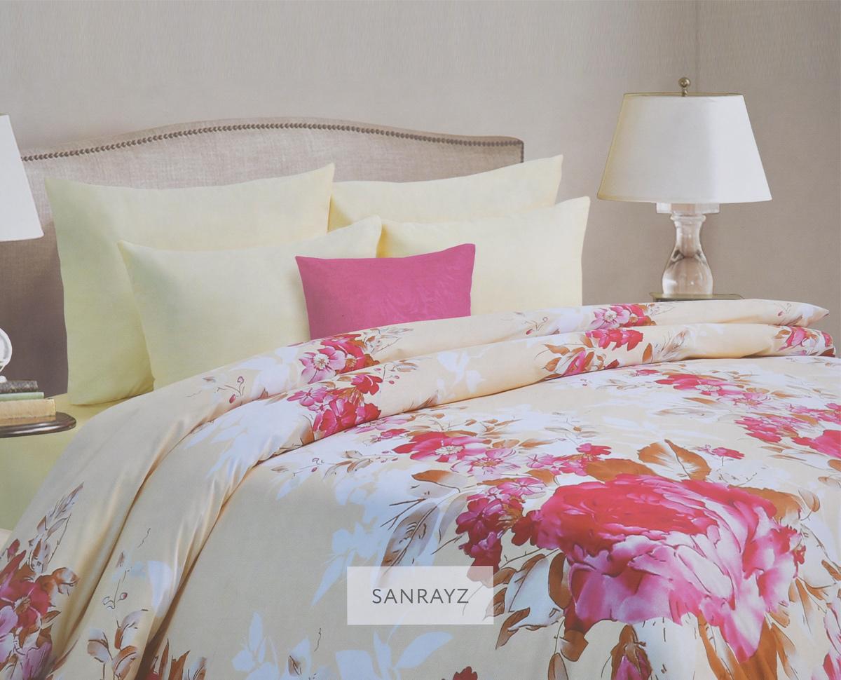 Комплект белья Mona Liza Sanrayz, евро, наволочки 70х70, цвет: светло-бежевый, розовый. 562109/4562109/4Комплект белья Mona Liza Sanrayz, выполненный из батиста (100% хлопок), состоит из пододеяльника, простыни и двух наволочек. Изделия оформлены красивым цветочным рисунком. Батист - тонкая, легкая натуральная ткань полотняного переплетения. Ткань с незначительной сминаемостью, хорошо сохраняющая цвет при стирке, легкая, с прекрасными гигиеническими показателями. В комплект входит: Пододеяльник - 1 шт. Размер: 200 см х 220 см. Простыня - 1 шт. Размер: 215 см х 240 см. Наволочка - 2 шт. Размер: 70 см х 70 см. Рекомендации по уходу: - Ручная и машинная стирка 40°С, - Гладить при температуре не более 150°С, - Не использовать хлорсодержащие средства, - Щадящая сушка, - Не подвергать химчистке.