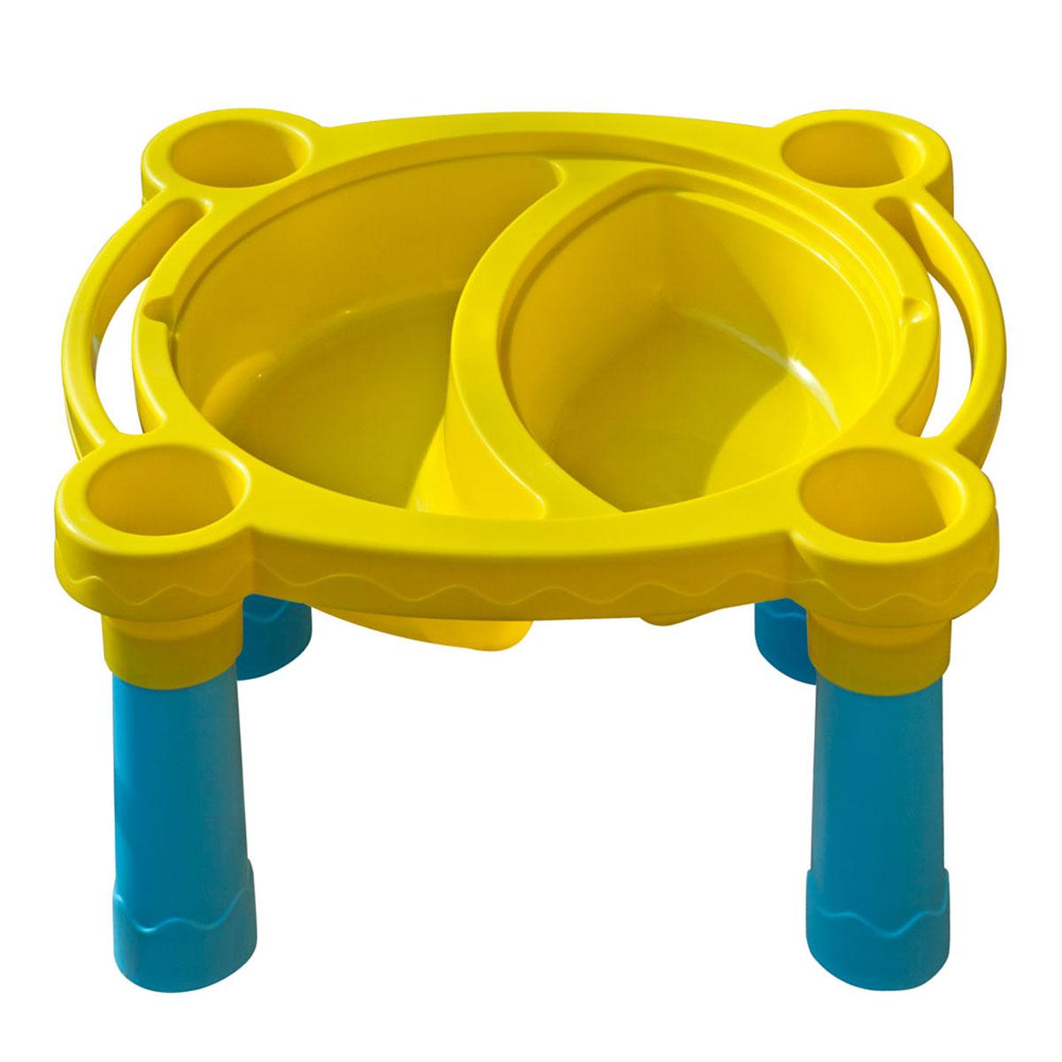 Пластиковый игровой столик PalPlay Песок - Вода375Игровой стол для песка и воды PalPlay это лучшее решения для детского времяпрепровождения. Стол даст возможность ребенку играть как с песком, так и придумать интересные игры с водой. Чтобы начать играть ребенку достаточно снять крышку. Под крышкой стола, распложены несколько углублений, специально предусмотренных для игр с песком и водой, которые так любят дети.