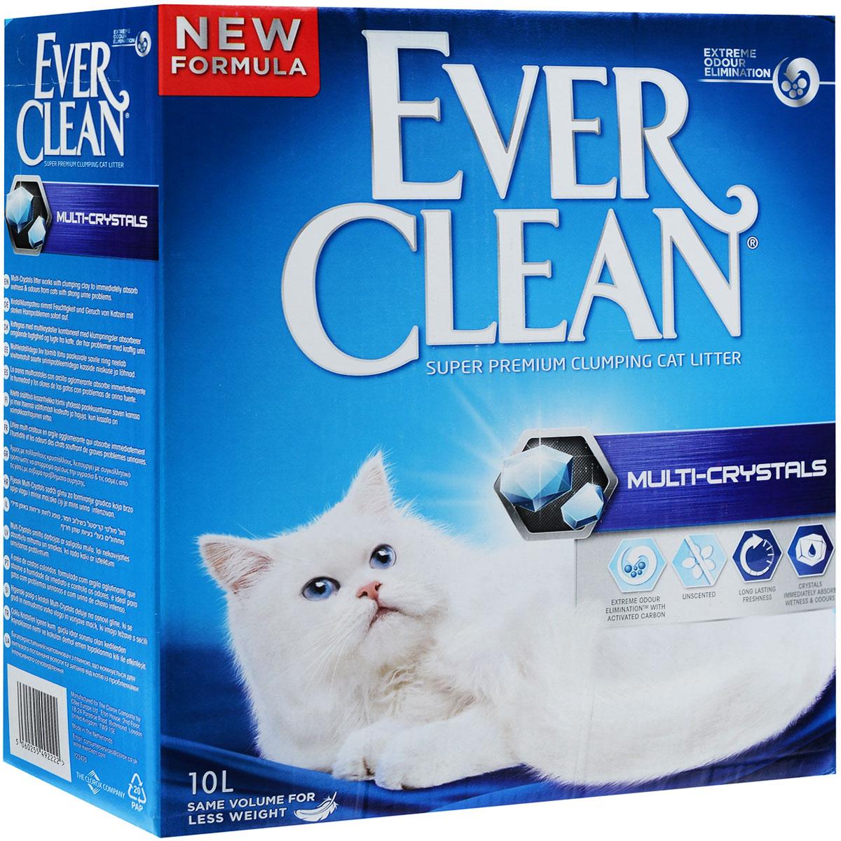 """Наполнитель для кошачьего туалета Ever Clean """"Multi-Crystals"""", комкующийся, 10 кг 204068016"""
