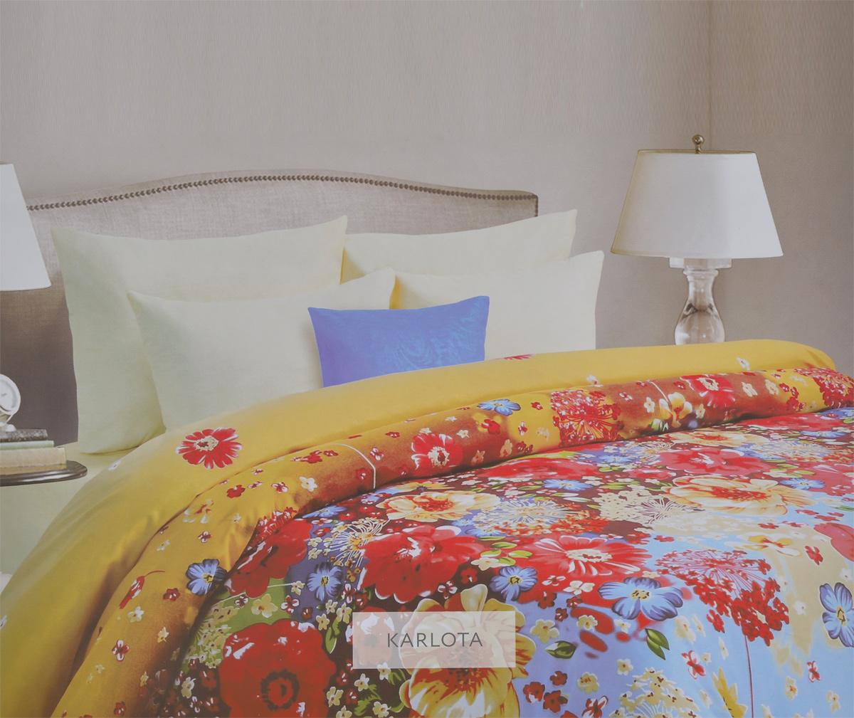 Комплект белья Mona Liza Karlota, 1,5-спальный, наволочки 70х70. 561114/5561114/5Комплект белья Mona Liza Karlota, выполненный из батиста (100% хлопок), состоит из пододеяльника, простыни и двух наволочек. Изделия оформлены ярким цветочным рисунком. Батист - тонкая, легкая натуральная ткань полотняного переплетения. Батист, несомненно, является одной из самых аристократичных и совершенных тканей. Он отличается нежностью, трепетной утонченностью и изысканностью. Ткань с незначительной сминаемостью, хорошо сохраняющая цвет при стирке, легкая, с прекрасными гигиеническими показателями. Рекомендации по уходу: - Ручная и машинная стирка 40°С, - Гладить при температуре не более 150°С, - Не использовать хлорсодержащие средства, - Щадящая сушка, - Не подвергать химчистке.