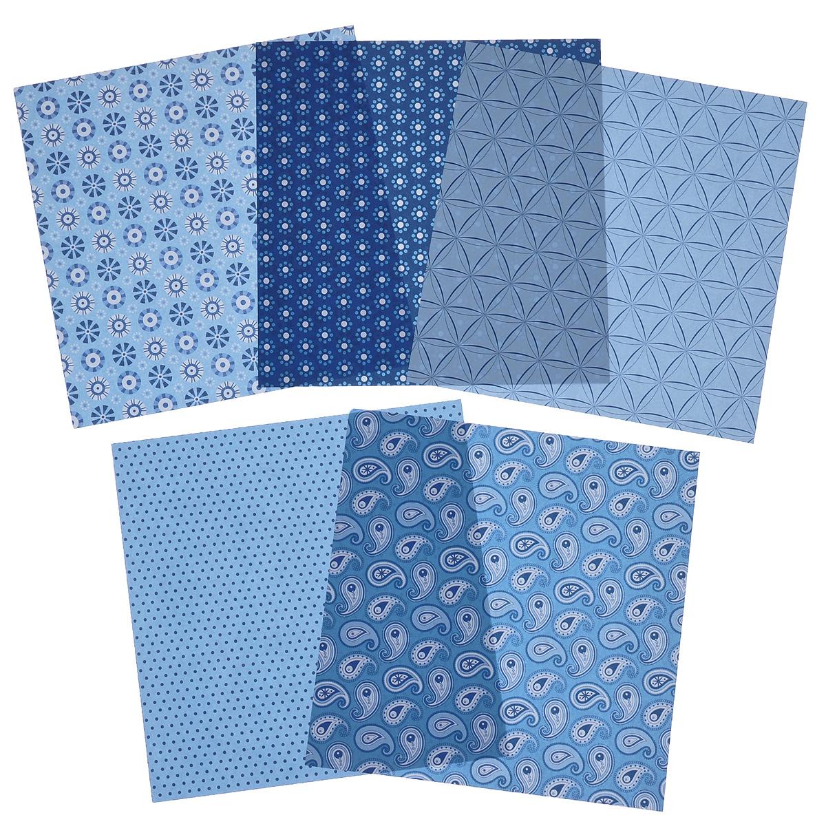 """Бумага для оригами """"Folia"""", цвет: голубой, 15 см х 15 см, 50 листов"""