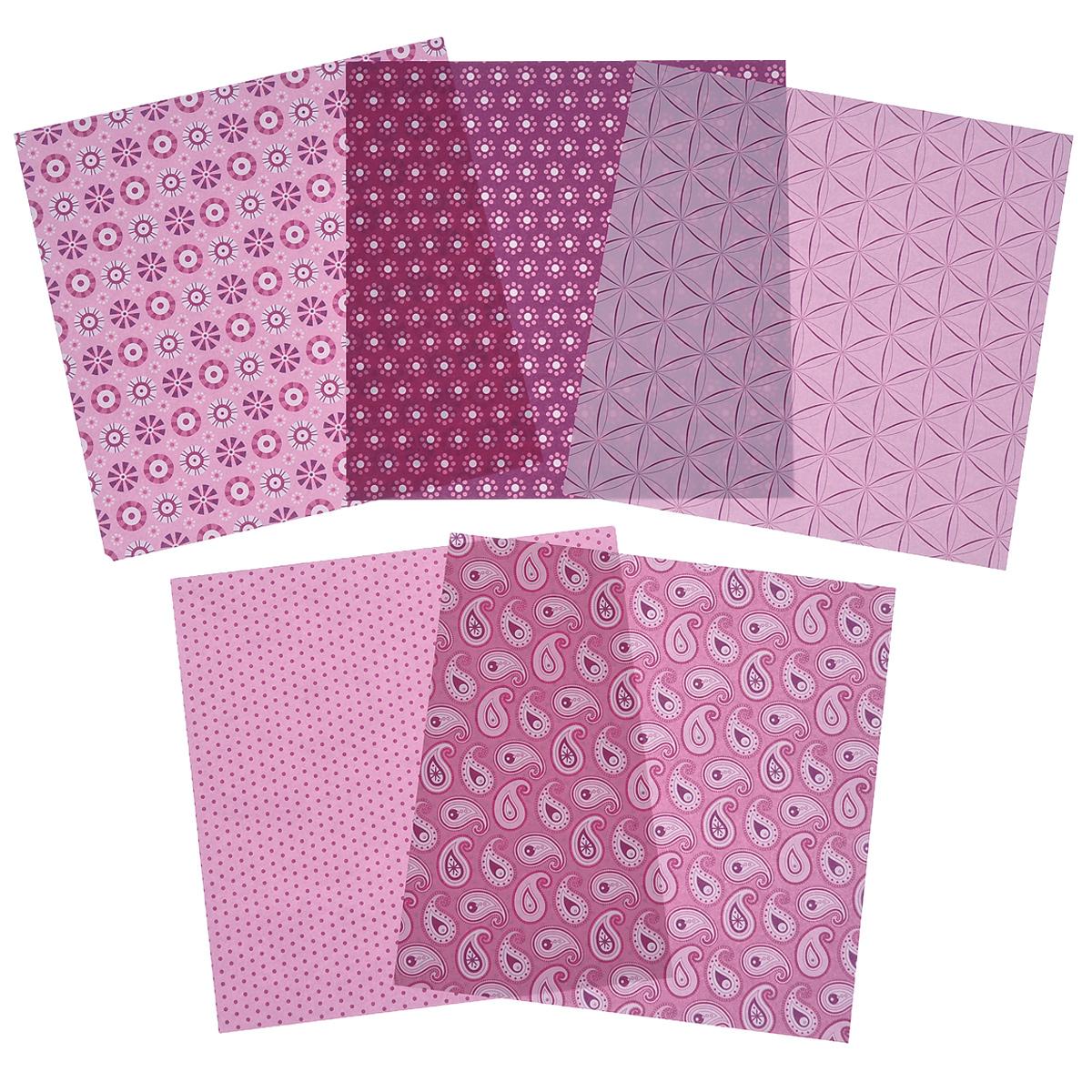 Бумага для оригами Folia, цвет: розовый, 15 х 15 см, 50 листов