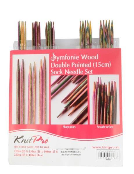 Набор чулочных спиц длиной 15см Symfonie (в наборе: спицы чулочные-2мм, 2,5мм, 3мм, 3,5мм, 4мм), дерево, многоцветный, 5 видов спиц в наборе20651Symfonie – эти изящные спицы с привлекательной, разноцветной текстурой созданы, чтобы стать любимцами у каждой рукодельницы. Очень легкие, деревянные спицы из ценных пород дерева.