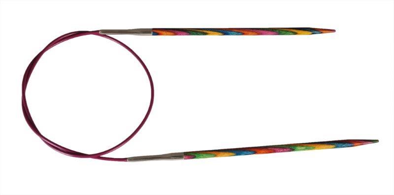 Спицы круговые Symfonie 5мм/60см, дерево, многоцветный21324Symfonie – эти изящные спицы с привлекательной, разноцветной текстурой созданы, чтобы стать любимцами у каждой рукодельницы. Очень легкие, деревянные спицы из ценных пород дерева.