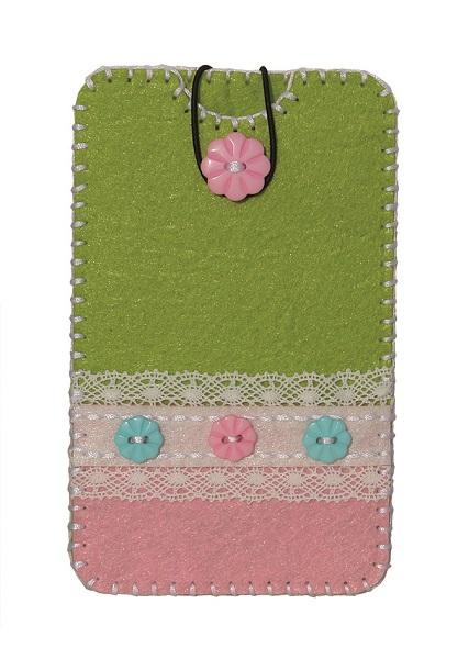 Набор для шитья из фетра: чехол для телефона Grun-Roza 8,2*13,5см (состав: выкройки 100% полиакрил с перфорацией для шитья, пуговица, резинка, пластиковая игла, нитки, инструкция)зеленый/розовый933-06Набор для шитья из фетра: чехол для телефона Grun-Roza 8,2*13,5см (состав: выкройки 100% полиакрил с перфорацией для шитья, пуговица, резинка, пластиковая игла, нитки, инструкция)зеленый/розовый