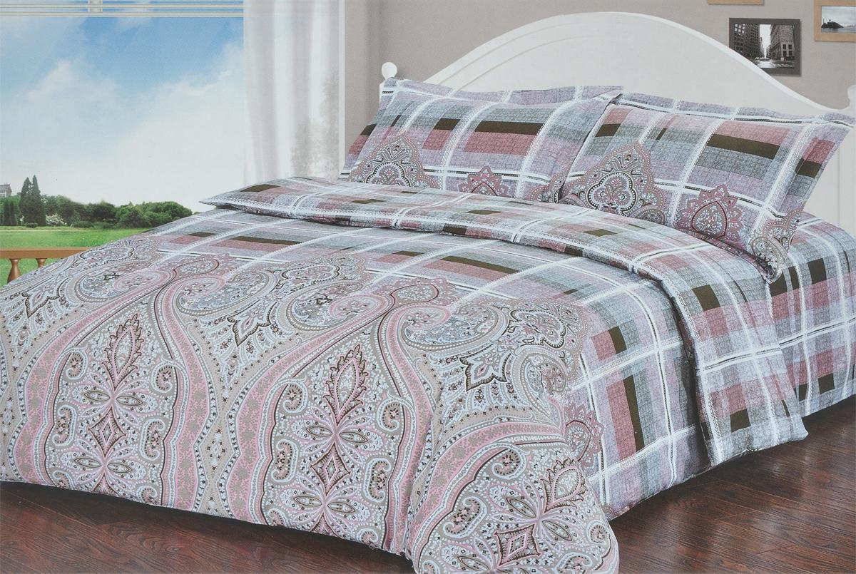 Комплект белья Soft Line, 1,5-спальный, наволочки 50х70. 1032210322Комплект белья Soft Line, выполненный из сатина (100% хлопок), состоит из пододеяльника, простыни и двух наволочек. Изделия оформлены ярким оригинальным орнаментом. Постельное белье из сатина очень прочное и долговечное. Такой комплект выдержит многократное количество стирок, а яркие цвета не начнут тускнеть очень продолжительное время. Сатин практически не мнется, не электризуется, великолепно впитывает влагу и отлично вентилируется.