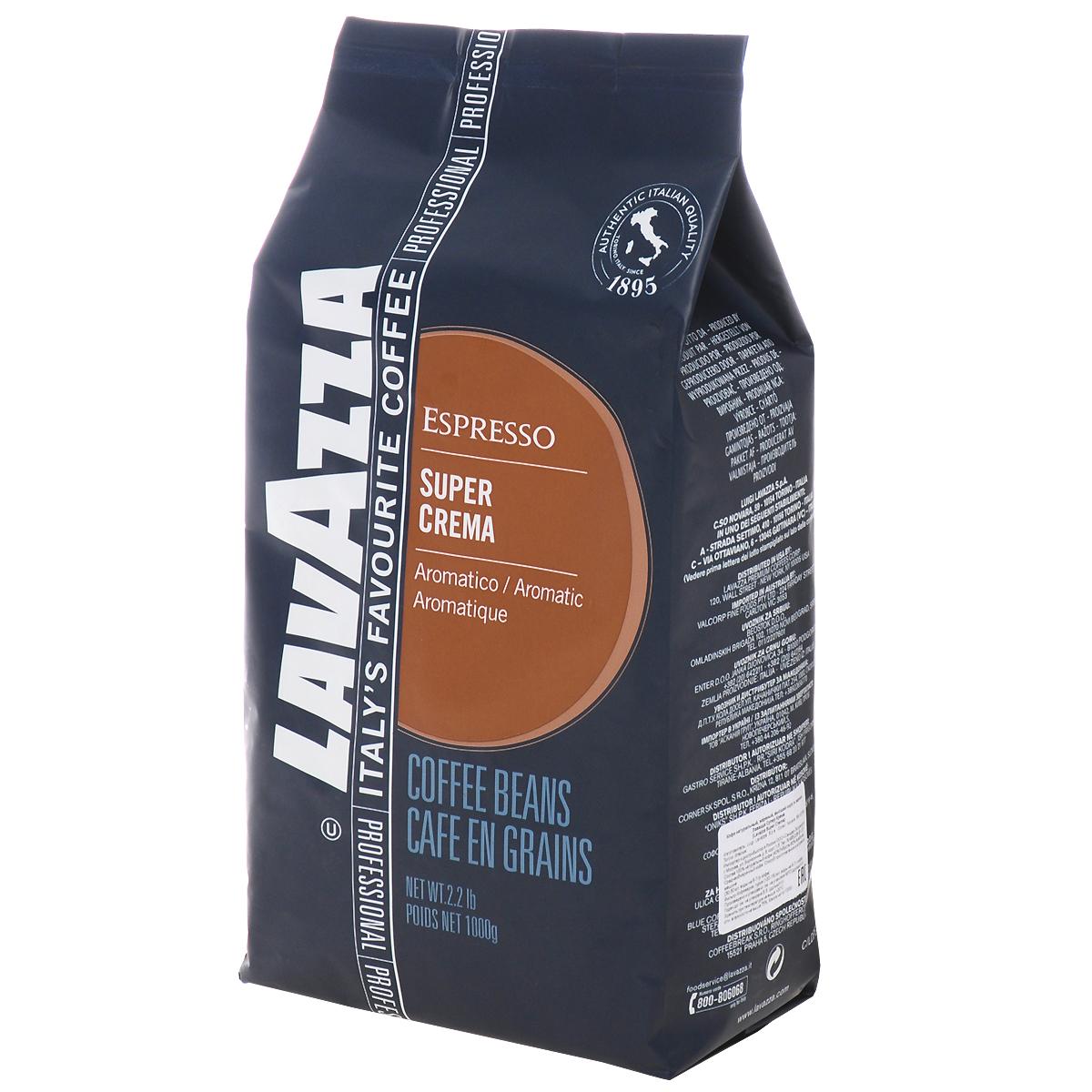Lavazza Super Crema кофе в зернах, 1 кг8000070042025_новый дизайнБленд кофе Lavazza Super Crema с бархатистой пенкой и стойким ароматом меда и миндаля для легкого и сливочного кофе эспрессо.
