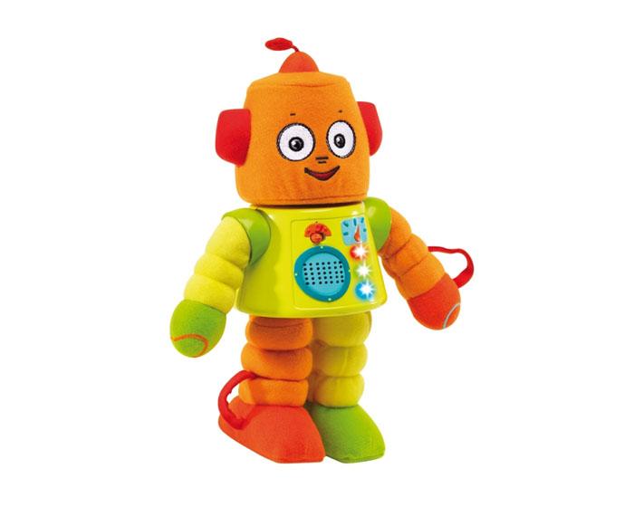 Интерактивная игрушка Yaki Робот, со звуковыми и световыми эффектами117Интерактивная игрушка Yaki Робот со световыми и звуковыми эффектами понравится вашему ребенку и не позволит ему скучать! Игрушка представляет собой забавного робота с пластиковым туловищем и мягконабивными конечностями и головой. Стоит только его включить и потянуть за какую-нибудь часть тела, малыш услышит какую либо мелодию или фразу. Конечности и голова закреплены резинками и после вытягивания легко возвращаются в исходное положение. Датчики, находящиеся в частях тела робота, определяют и называют эту часть. Игрушка воспроизводит оригинальную песенку, 3 мелодии, более 20 фраз и звуковых эффектов. Если робот находится вверх тормашками, играет мелодия и раздаются забавные звуки. Скорость воспроизведения звуков ускорится, если игрушку потрясти. Во время воспроизведения звуковых эффектов на туловище робота мигают огоньки. Игрушка Yaki Робот поможет ребенку развить мелкую моторику рук, координацию движений и любознательность, познакомит с...