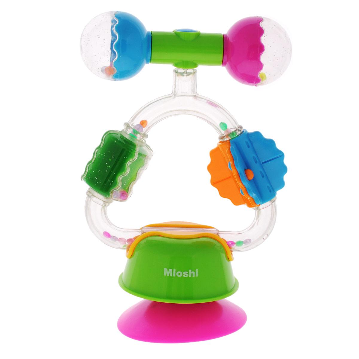 Погремушка-игровой центр Mioshi РадугаTY9028Яркая, звонкая, приятная на ощупь игрушка Mioshi Радуга с фиксатором-липучкой станет любимым развлечением вашей крохи. Игрушка помогает развивать мелкую моторику, восприятие формы и цвета предметов, а также слух и зрение. Игровой центр легко крепится на ровную поверхность с помощью фиксатора-липучки. Игрушки Mioshi созданы специально для малышей, которые только начинают познавать этот волшебный мир. Дети в раннем возрасте всегда очень любознательны, они тщательно исследуют всё, что попадает им в руки. Заботясь о здоровье и безопасности малышей, Mioshi выпускает только качественную продукцию, которая прошла сертификацию.