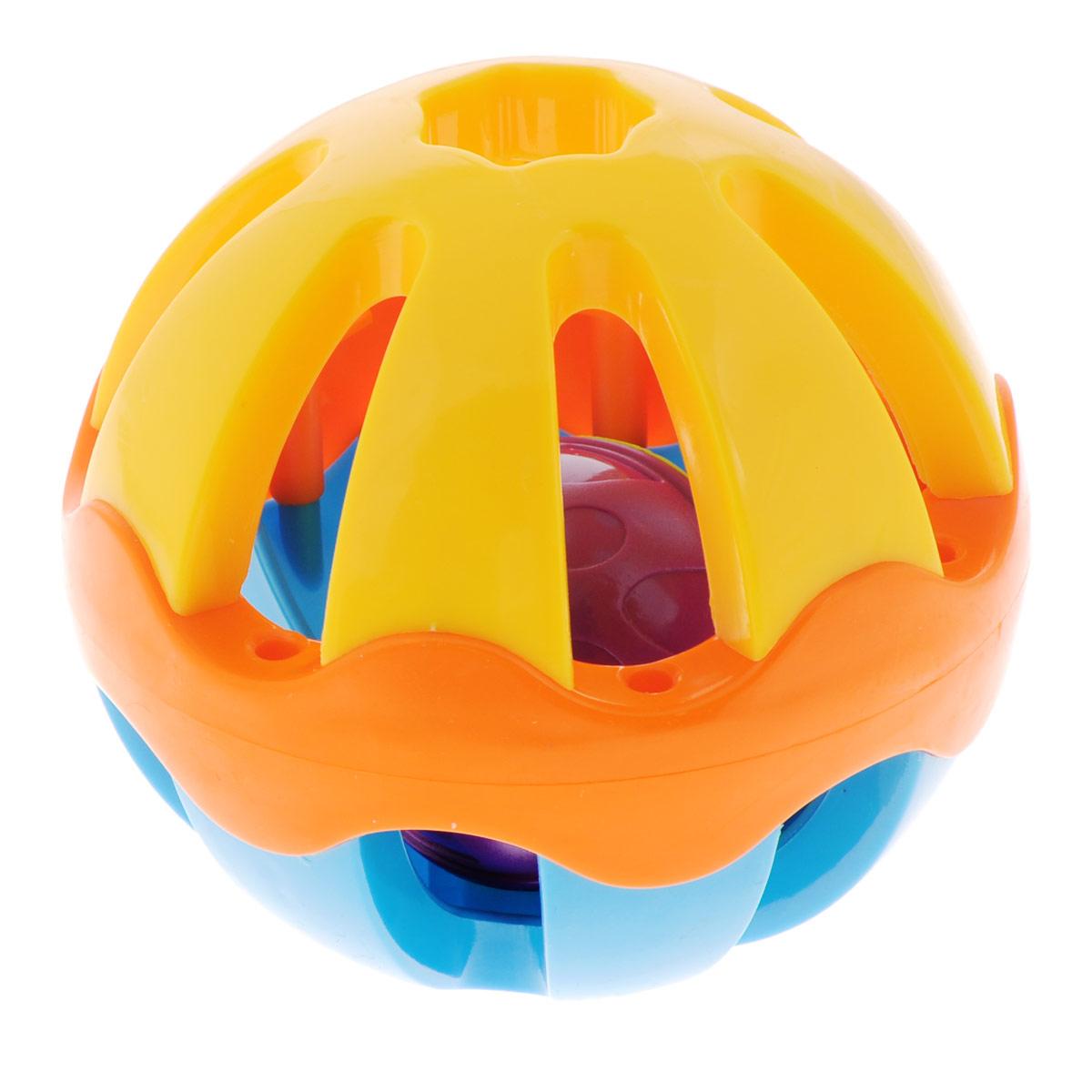 Погремушка Mioshi ШарTY9021Яркая, звонкая, приятная на ощупь погремушка Mioshi Шар станет любимой игрушкой вашей крохи с первых дней жизни. Игрушка, выполненная в форме шара, развивает мелкую моторику, восприятие формы и цвета предметов, слух и зрение. Дети в раннем возрасте всегда очень любознательны, они тщательно исследуют всё, что попадает им в руки. Заботясь о здоровье и безопасности малышей, Mioshi выпускает только качественную продукцию, которая прошла сертификацию. Игрушки Mioshi созданы специально для малышей, которые только начинают познавать этот волшебный мир.