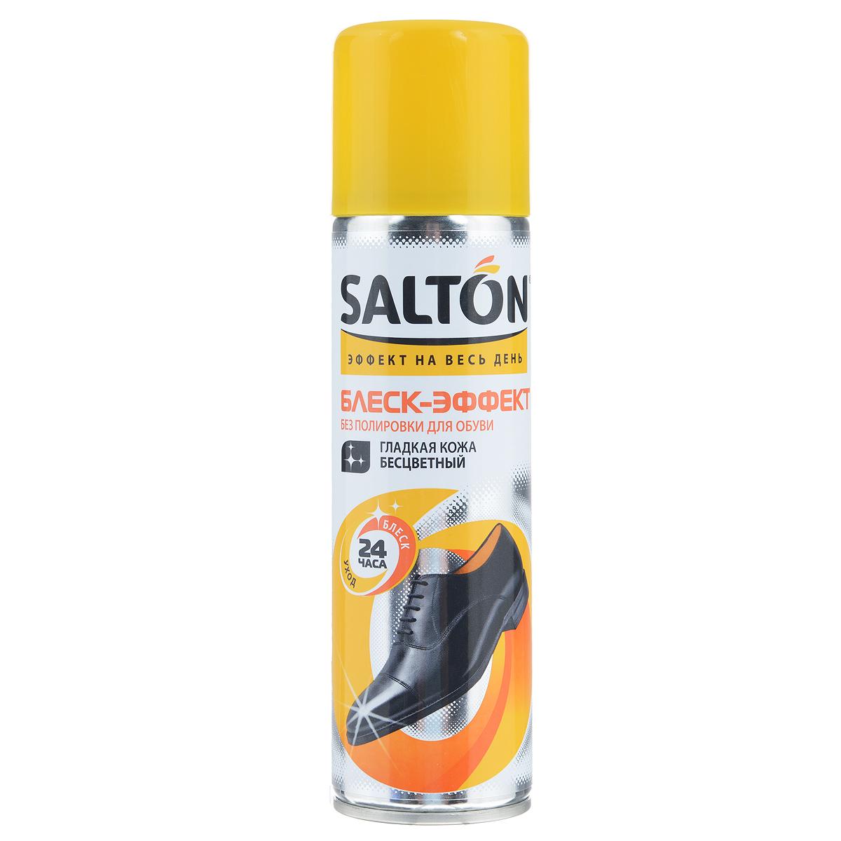 Блеск-эффект без полировки для гладкой кожи Salton, цвет: бесцветный, 250 мл262587291Средство Salton предназначено для придания интенсивного и устойчивого блеска обуви из гладкой кожи. Не требует полировки. Улучшает насыщенность цвета изделия, смягчает кожу, обладает водоотталкивающим эффектом. Не использовать для лаковой кожи! Состав: 30%: алифатический растворитель, пропеллент (бутан, изобутан, пропан).