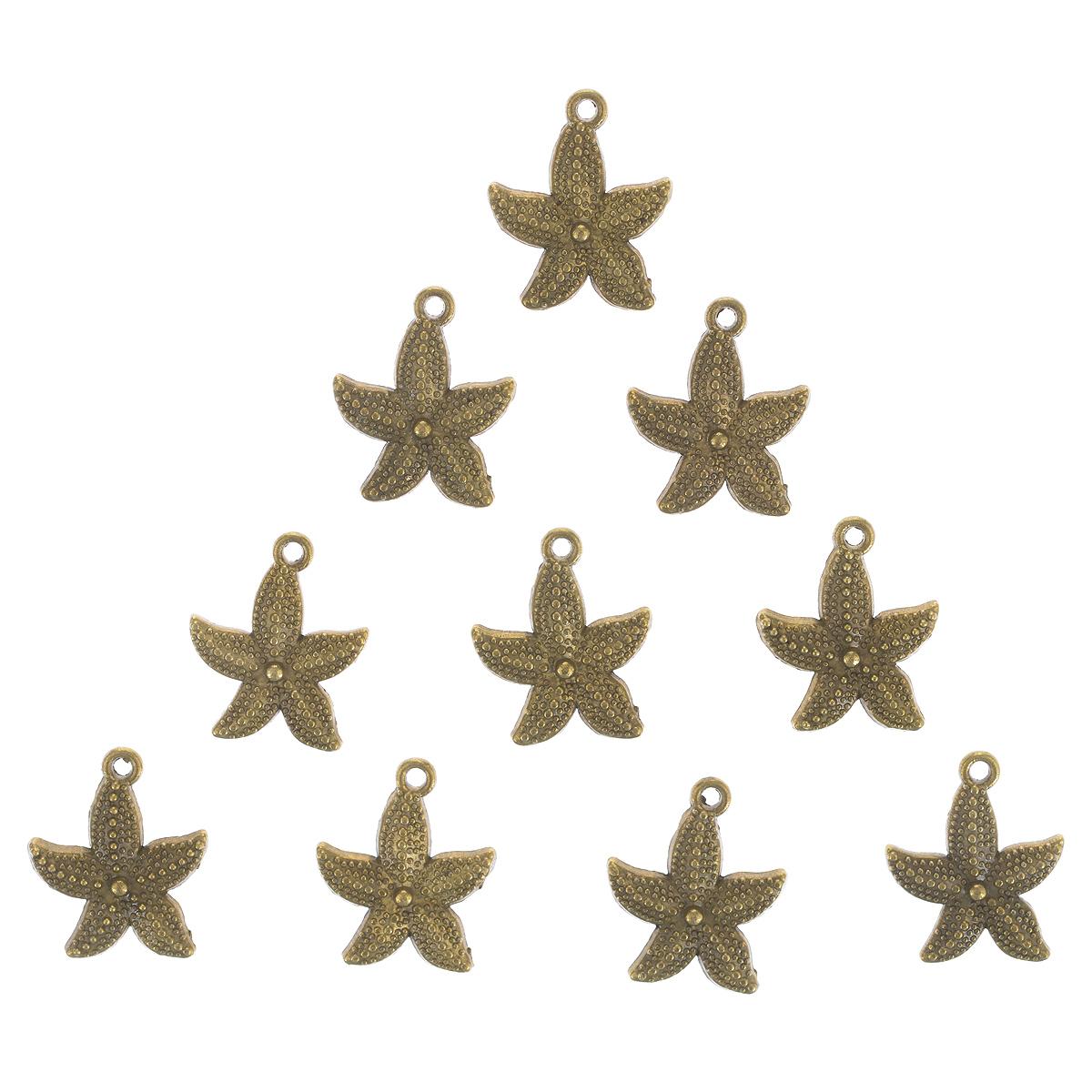 Набор подвесок ScrapBerrys Морская звездочка, цвет: золотистый, 19 мм х 23 мм, 10 штSCB25011507Набор ScrapBerrys Морская звездочка состоит из 10 декоративных подвесок, выполненных из металла. Изделия предназначены для создания бижутерии, их также можно использовать для украшения альбомов, открыток, рамок, скрап-страничек. Подвески ScrapBerrys помогут воплотить вашу творческую задумку и создать оригинальную неповторимую бижутерию.