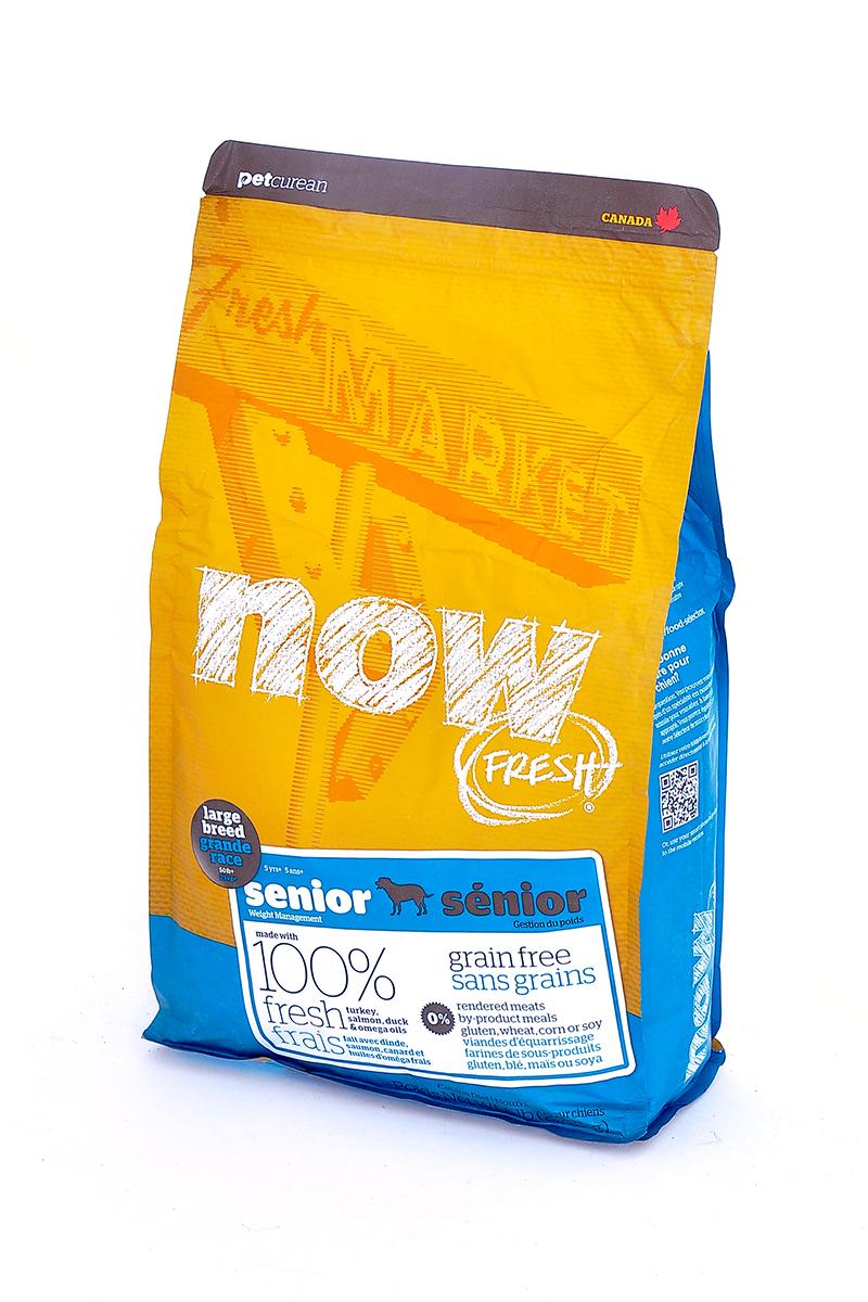 Now! Контроль веса - беззерновой корм для Собак Крупных пород с Индейкой, Уткой и овощами (Fresh Senior Large Breed Recipe Grain Free