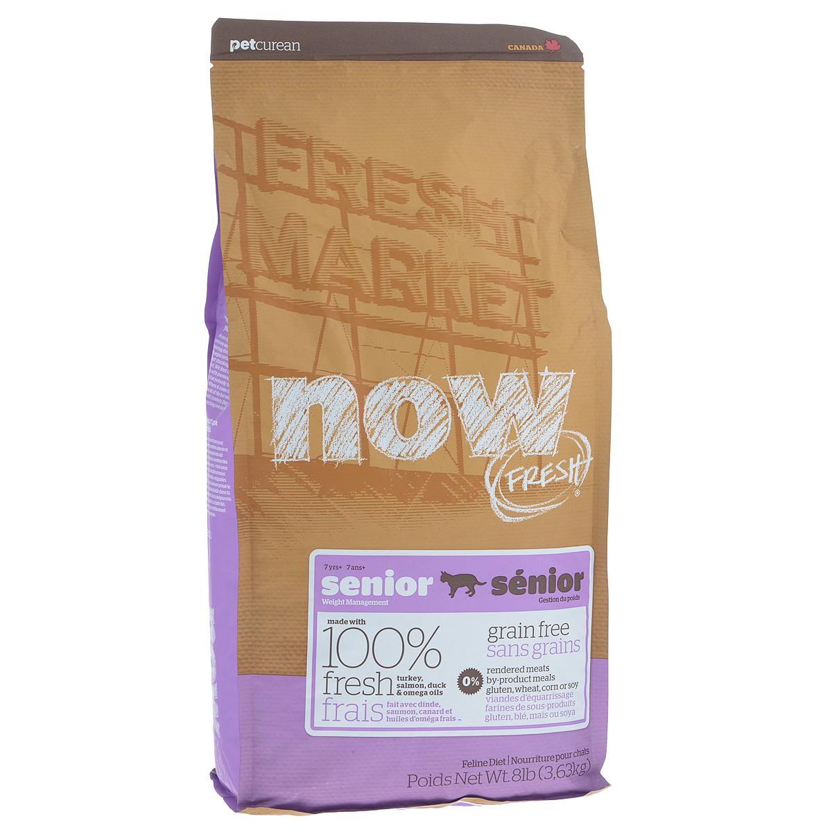 Корм сухой Now Fresh Контроль веса для кошек, беззерновой, с индейкой, уткой и овощами, 3,63 кг20047Now Fresh Контроль веса - полностью сбалансированный холистик корм из филе индейки и утки, выращенных на канадских фермах, из лосося без костей, выловленного в озерах Британской Колумбии. Рекомендован для кошек старше 7 лет, и взрослых (1-6 лет) - склонных к полноте. При производстве кормов используется только свежее мясо индейки, утки, лосося, кокосовое и рапсовое масло. Ключевые преимущества: - полностью беззерновой, - не содержит субпродуктов, красителей, говядины, мясных ингредиентов, выращенных на гормонах, - оптимальное соотношение белков и жиров помогает кошке оставаться здоровым и сохранять отличную форму, - омега-масла в составе необходимы для здоровой кожи и шерсти, - пробиотики и пребиотики обеспечивают здоровое пищеварение, - таурин необходим для здоровья глаз и нормального функционирования сердечной мышцы, - антиоксиданты укрепляют иммунную систему. Состав: филе индейки, картофель, горох, свежие...