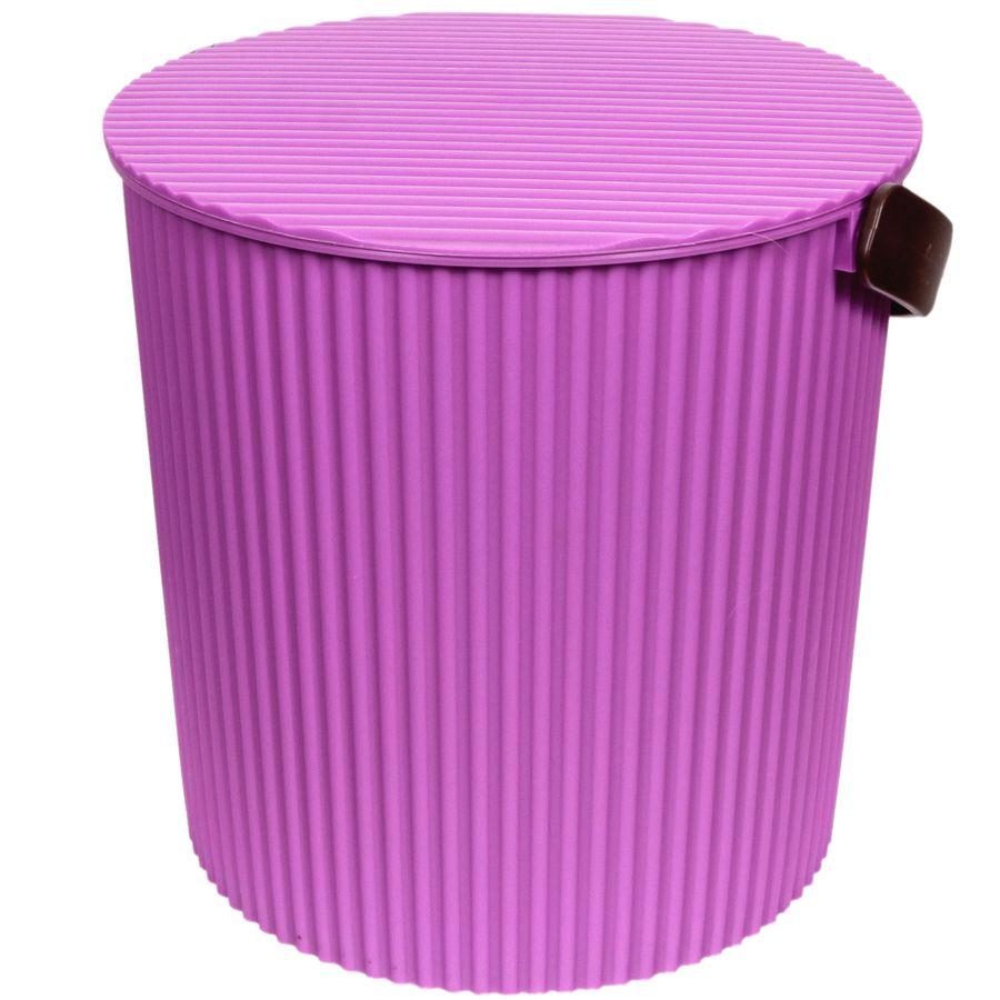 Ведро-стул фиолетовое 20л GRANDE204-фиолетовоеУВАЖАЕМЫЕ КЛИЕНТЫ! Обращаем ваше внимание на то, что цвет ручки может меняться в зависимости от прихода товара на склад.