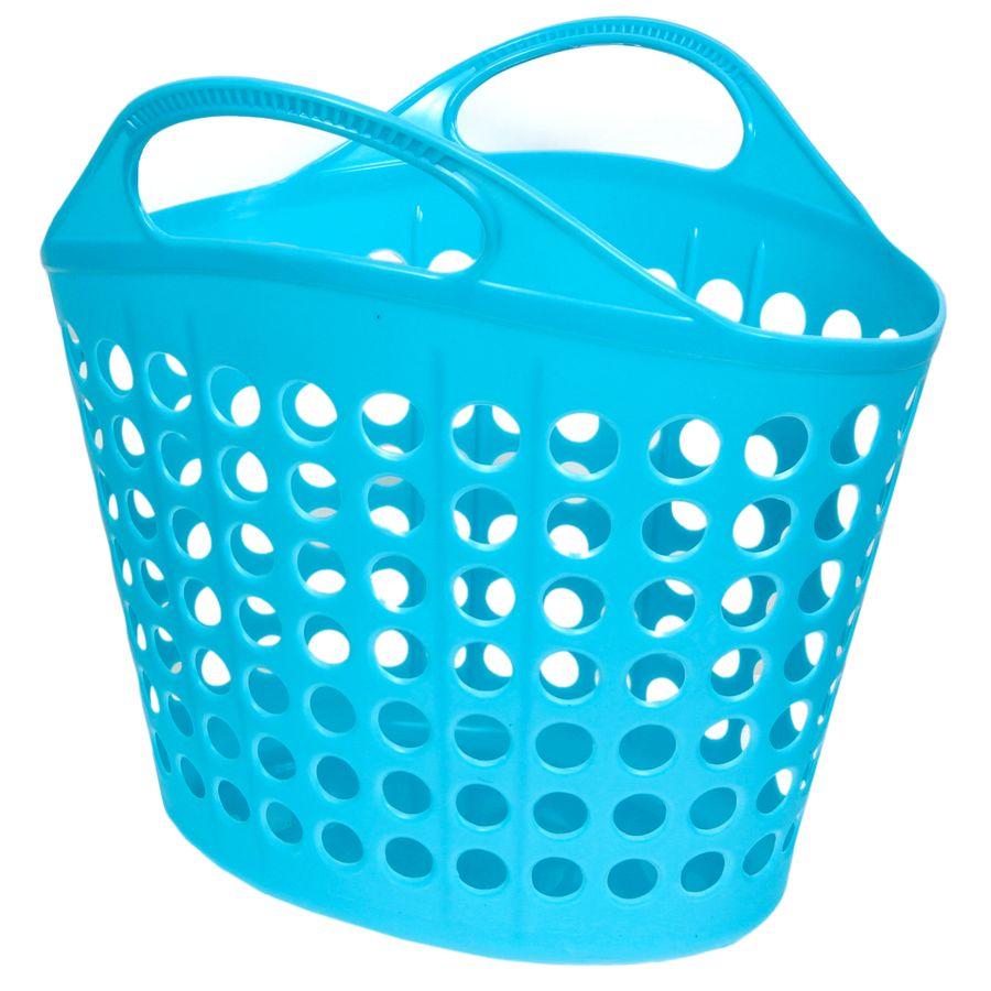 Корзина для белья Изумруд, цвет: синий, 10 кг415-синяя