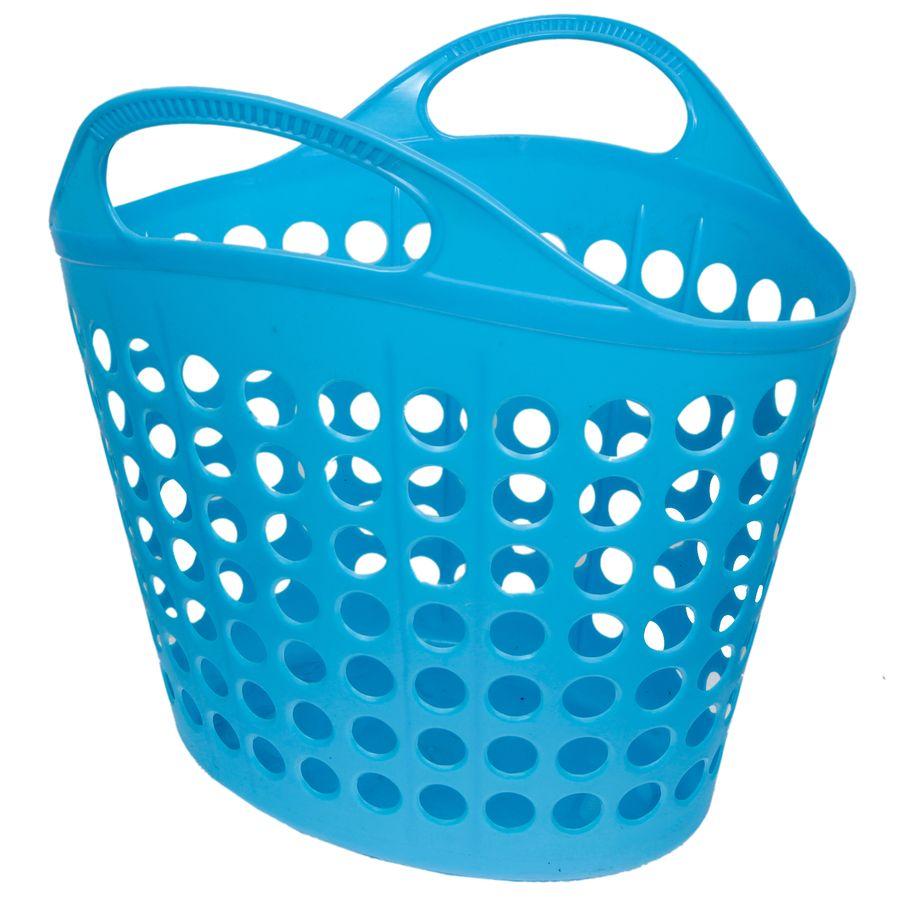 Корзина для белья Изумруд, цвет: синий, 7 кг475-синяя