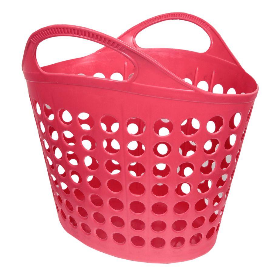 Корзина для белья Изумруд, цвет: красный, 7 кг472-красная