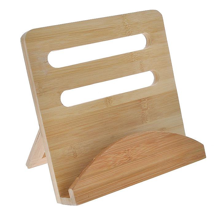 Подставка для кулинарной книги House & Holder, 24 х 23,5 х 6,5 смYG11-0074Подставка House & Holder прямоугольной формы выполнена из бамбука и предназначена для книг. Оснащена складывающейся ножку. С такой подставкой готовить блюда по разнообразным рецептам станет еще проще и удобнее.
