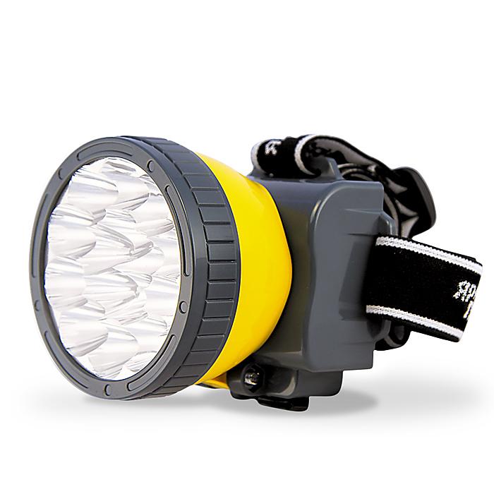 Фонарь налобный Яркий Луч LH-15ALH-15AОсновные характеристики фонаря. Материал корпуса: ABS пластик. Источник света: 15 светодиодов, 40 лм. срок службы 50 000 часов. Аккумулятор: герметичный кислотно-свинцовый 4В 800 мАч, количество циклов заряда более 300,(в комплекте) время зарядки аккумулятора 5 часов. Режим 1. 5LED - 8 часов. Режим 2. 15LED - 2,5 часов. Технические характеристики: аккумулятор 4В 800 мАч,(в комплекте) источник света – 15 светодиодов.
