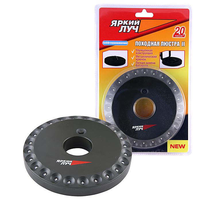 Фонарь кемпинговый Яркий Луч LT-2406-2LT-2406-2Описание: Светодиодный фонарь кемпинг Количество ламп: 24 светодиода, 80лм. Питание: 4хАA (R06), в комплект не входят Материал корпуса: ABS пластик Размеры: 18 x 135 мм (высота х диаметр) Дополнительно: Откидывающийся металлический крючок для подвешивания и крепления фонаря, продолжительное время работы. Влагозащитная конструкция.