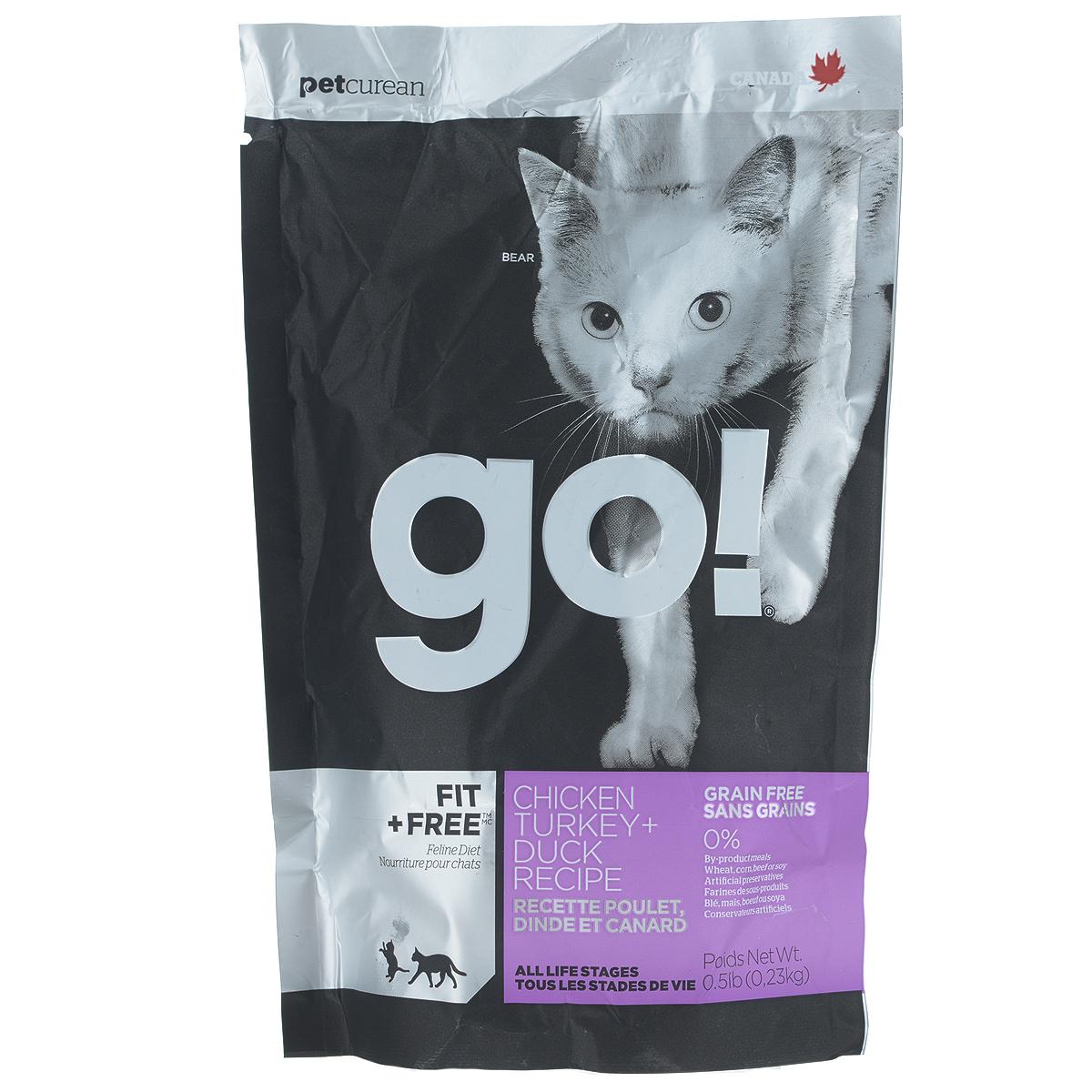 Корм сухой Go! для кошек и котят, беззерновой, с курицей, индейкой, уткой и лососем, 230 г20030Беззерновой сухой корм Go! для котят и кошек - это корм со сбалансированным содержание белков и жиров. Ключевые преимущества: - Полностью беззерновой, - Небольшое количество углеводов гарантирует поддержание оптимального веса кошки, - Пробиотики и пребиотики обеспечивают здоровое пищеварение, - Не содержит субпродуктов, красителей, говядины, мясных ингредиентов, выращенных на гормонах, - Таурин необходим для здоровья глаз и нормального функционирования сердечной мышцы, - Докозагексаеновая кислота (DHA) и эйкозапентаеновая кислота (EPA) необходима для нормальной деятельности мозга и здорового зрения, - Омега-масла в составе необходимы для здоровой кожи и шерсти, - Антиоксиданты укрепляют иммунную систему. Состав: свежее мясо курицы, филе курицы, филе индейки, утиное филе, свежее мясо индейки, свежее мясо лосося, филе форели, куриный жир (источник витамина Е), натуральный рыбный ароматизатор, горошек,...