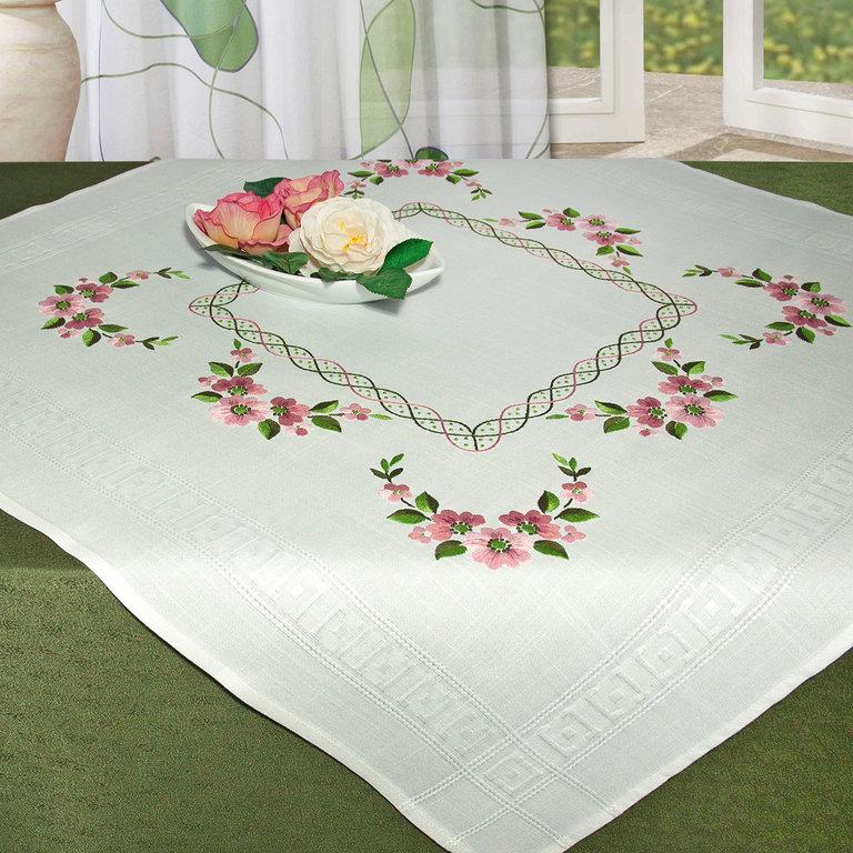 Набор для вышивания скатерти гладью Schaefer, 88 х 86 см. 6804/207
