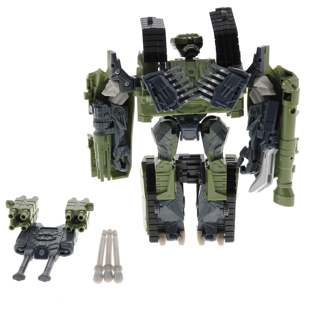 Игрушка-трансформер Праймбот. 8096B951-H21046Робот Праймбот - это робот-трансформер, который не оставит равнодушным ни одного мальчишку, который увлекается трансформерами. Игрушка с легкостью из робота трансформируется в боевой танк и наоборот. Игрушка оснащена пушкой и специальными зарядами. Выстрелы осуществляются при помощи пружинного механизма. Играя с роботом, ребенок развивает мелкую моторику, образное мышление, воображение. Ребенок сможет придумать и разыграть множество различных игровых сюжетов. Чтобы играть было веселее и в компании друзей, можно собрать полную коллекцию роботов-трансформеров.
