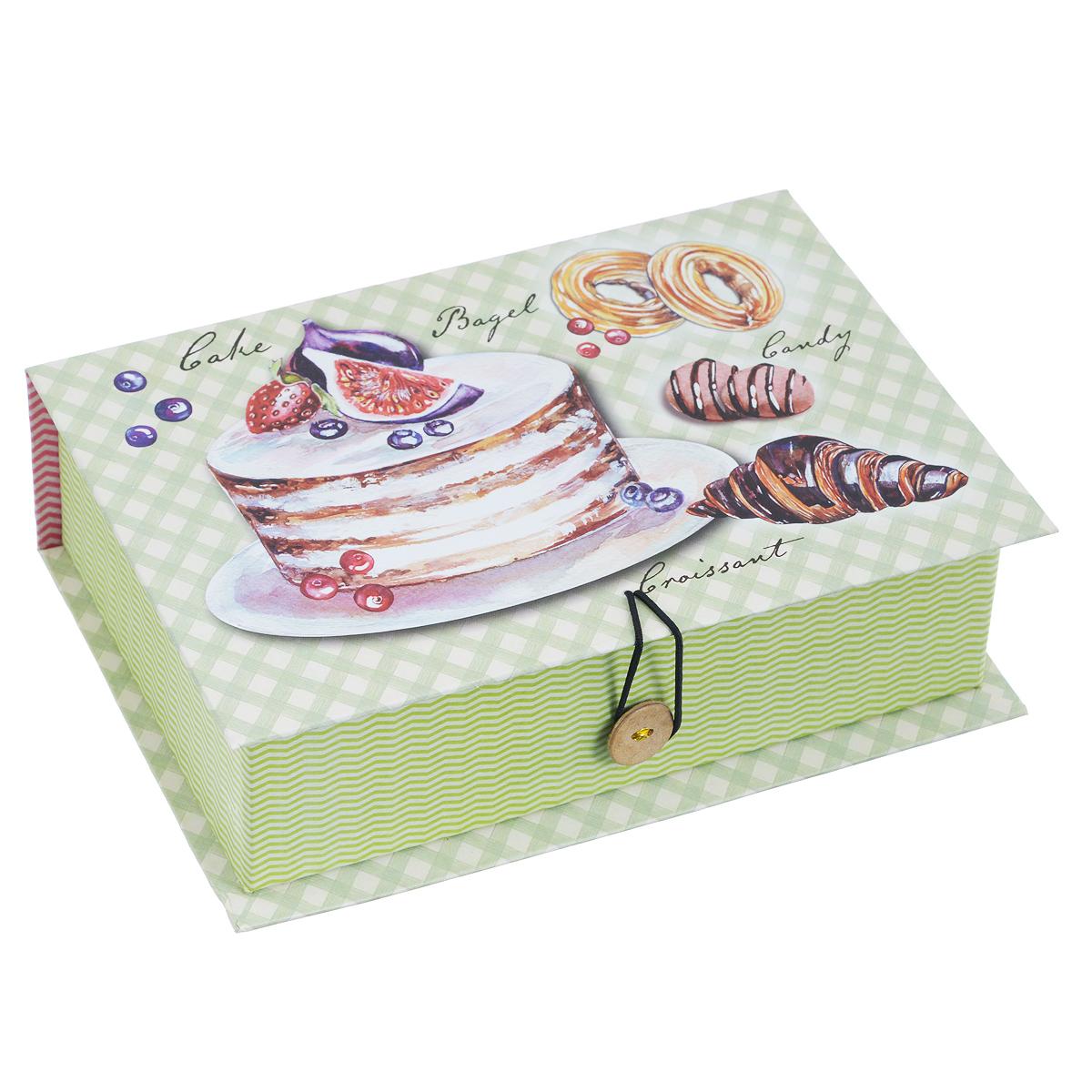 """Феникс-Презент Подарочная коробка """"Пирожные"""", 18 см х 12 см х 5 см. 39472"""