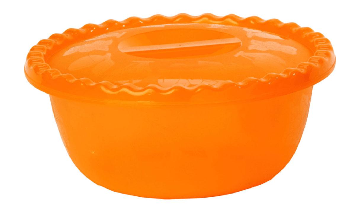 Миска Idea, с крышкой, цвет: оранжевый, 3 лМ 1316Вместительная миска круглой формы Idea изготовлена из высококачественного пищевого полипропилена. Изделие, оснащенное крышкой, очень функциональное, оно пригодится на кухне для самых разнообразных нужд: в качестве салатника, миски, тарелки. По периметру миска украшена узором в виде фруктов. Диаметр миски: 24,5 см. Высота миски (без учета крышки): 11 см.
