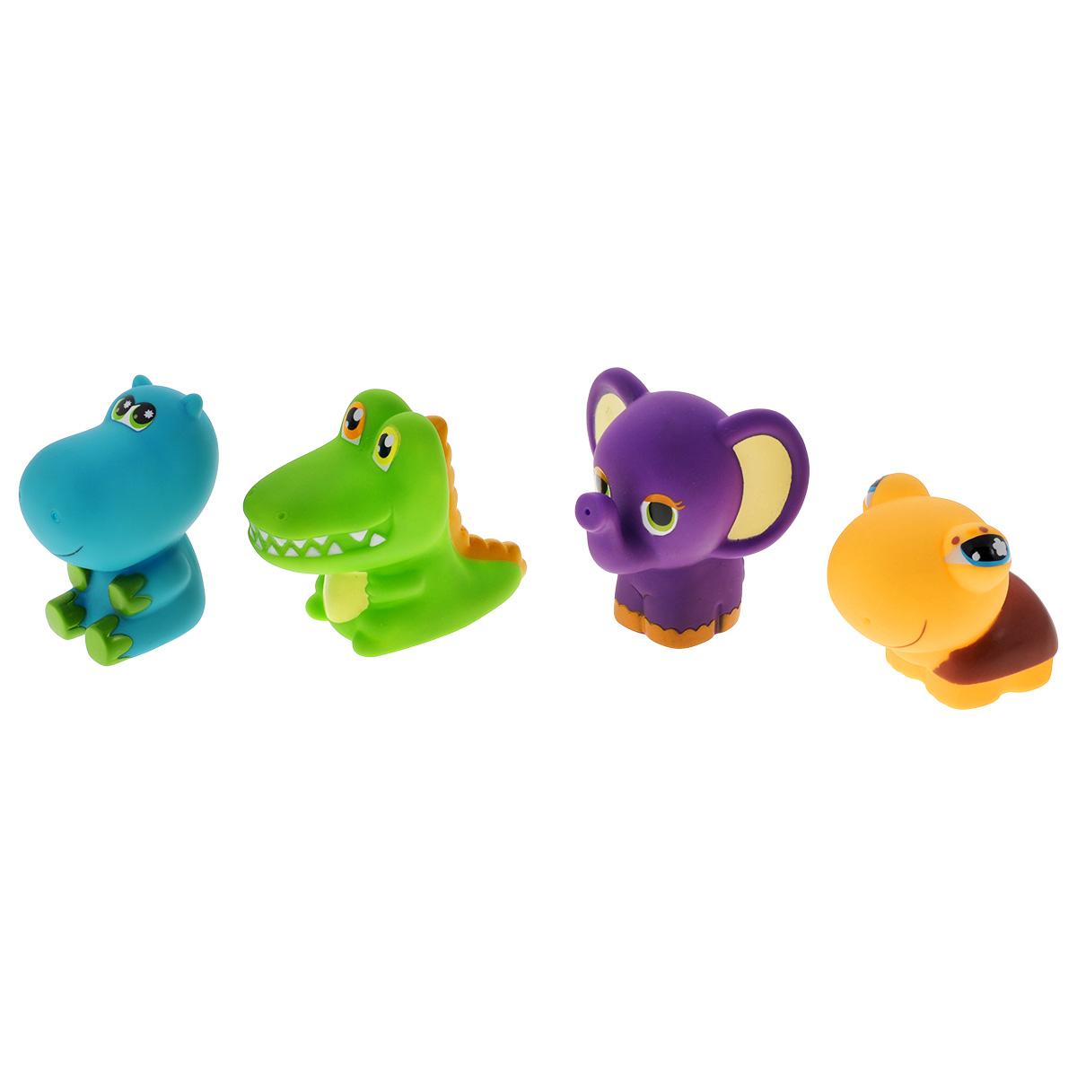 Игровой набор для ванны Mioshi Забавные малыши, 4 штMAU0304-013С набором для ванны Mioshi Забавные малыши принимать водные процедуры станет ещё веселее и приятнее. В комплекте набора малыш обнаружит: зеленого крокодильчика, фиолетового слонёнка, бирюзового бегемотика и очаровательную черепашку . Все составляющие набора приятны на ощупь, имеют удобную для захвата маленькими пальчиками эргономичную форму и быстро сохнут. Забавным дополнением также будет возможность игрушек брызгать водой при сжатии. Устраивайте водные сражения! Игрушки Mioshi Aqua помогают малышам быстрее приспосабливаться к водной среде, а процесс принятия водных процедур делают веселым и увлекательным.
