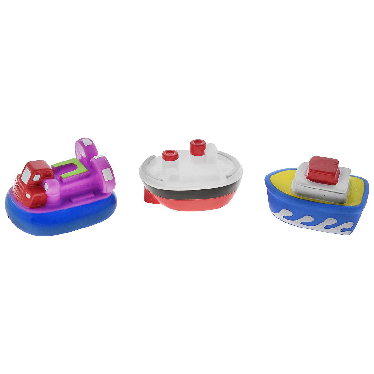 Игровой набор для ванны Mioshi Пароходики, 3 штMAU0304-012С красочным набором для ванны Mioshi Пароходики принимать водные процедуры станет ещё веселее и приятнее. Набор включает в себя три вида водной техники. Все составляющие набора приятны на ощупь, имеют удобную для захвата маленькими пальчиками эргономичную форму и быстро сохнут. Забавным дополнением также будет возможность игрушек брызгать водой при сжатии. Устраивайте водные сражения! Игрушки Mioshi Aqua помогают малышам быстрее приспосабливаться к водной среде, а процесс принятия водных процедур делают веселым и увлекательным.