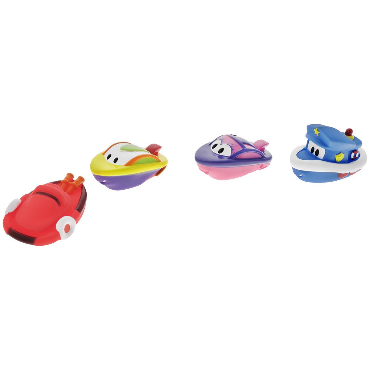 Игровой набор для ванны Mioshi Катерочки, 4 штMAU0304-015С набором для ванны Mioshi Катерочки принимать водные процедуры станет ещё веселее и приятнее. Набор включает в себя четыре разные игрушки в виде красочных лодочек-катеров. Все составляющие набора приятны на ощупь, имеют удобную для захвата маленькими пальчиками эргономичную форму и быстро сохнут. Забавным дополнением также будет возможность игрушек брызгать водой при сжатии. Устраивайте водные сражения! Игрушки Mioshi Aqua помогают малышам быстрее приспосабливаться к водной среде, а процесс принятия водных процедур делают веселым и увлекательным.