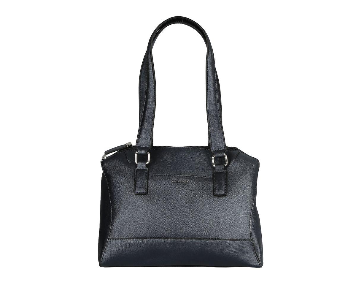 Сумка женская Galaday, цвет: синий. GD4669AGD4669AМиниатюрная женская сумка Galaday изготовлена из натуральной кожи и оформлена фактурным тиснением. Высота ручек позволяет носить сумку на плече. Изделие закрывается на застежку-молнию. Лицевая и тыльная стороны дополнены накладными плоскими карманами. Внутреннее отделение разделено средником на застежке-молнии, содержит 2 накладных кармана для мобильного телефона и мелочей и 1 врезной карман на застежке-молнии. Модель держит форму. Фурнитура серебряного цвета. Дно защищено от повреждений металлическими ножками. Изделие упаковано в фирменный чехол-сумку. Galaday - роскошный дизайн, практичность и современный стиль.