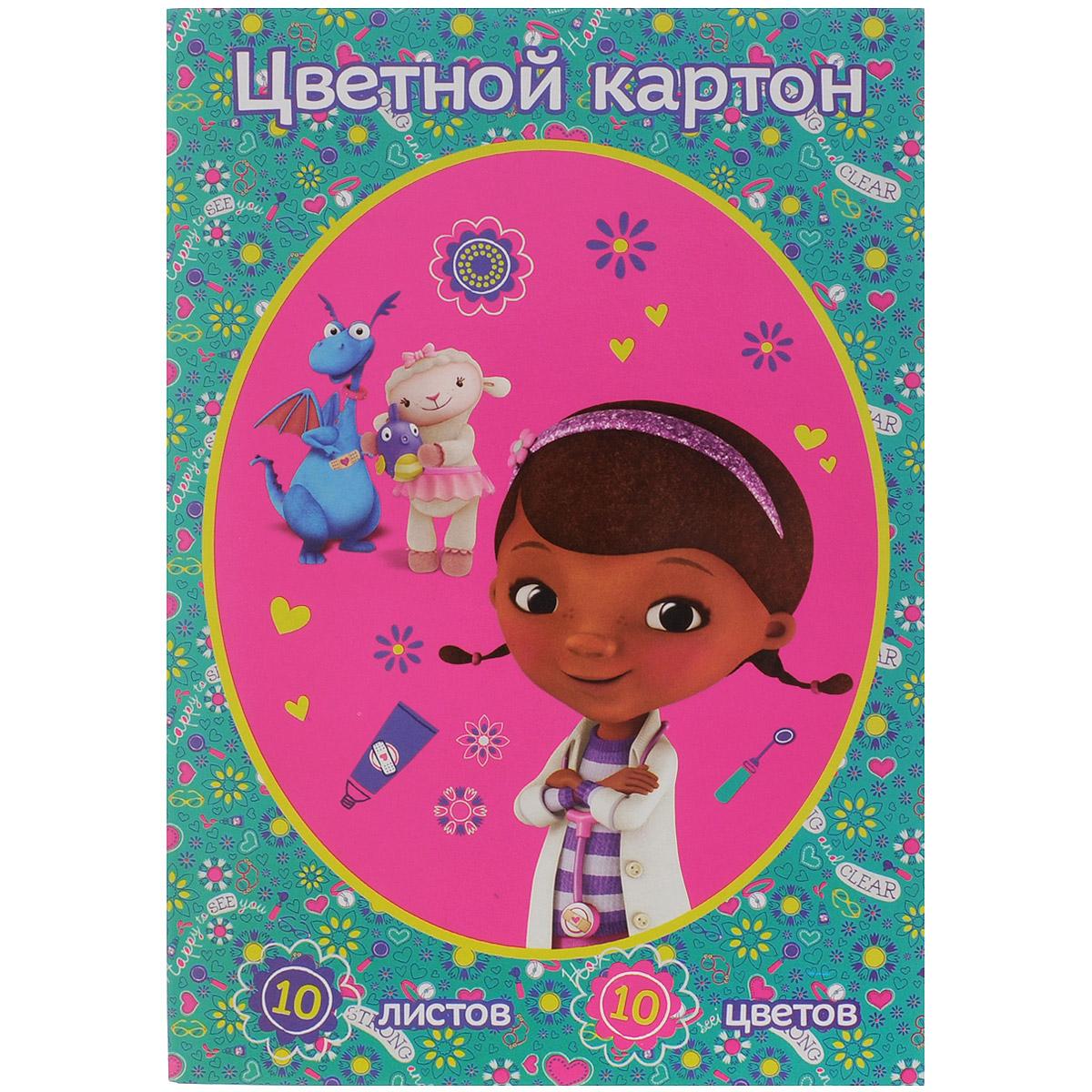 Цветной картон Disney Доктор Плюшева, 10 цветов25440Цветной картон Disney Доктор Плюшева идеально подойдет для творческих занятий в детском саду, школе или дома. Картон упакован в яркую картонную папку, оформленную рисунком с изображением героев мультфильма Доктор Плюшева. Упаковка содержит десять листов картона разных цветов (оранжевый, зеленый, желтый, черный, синий, фиолетовый, красный, коричневый, золотой и серебряный). Создание поделок и аппликаций из картона - это увлекательный досуг, который позволяет ребенку развивать свои творческие способности. Рекомендуемый возраст: от 3 лет.