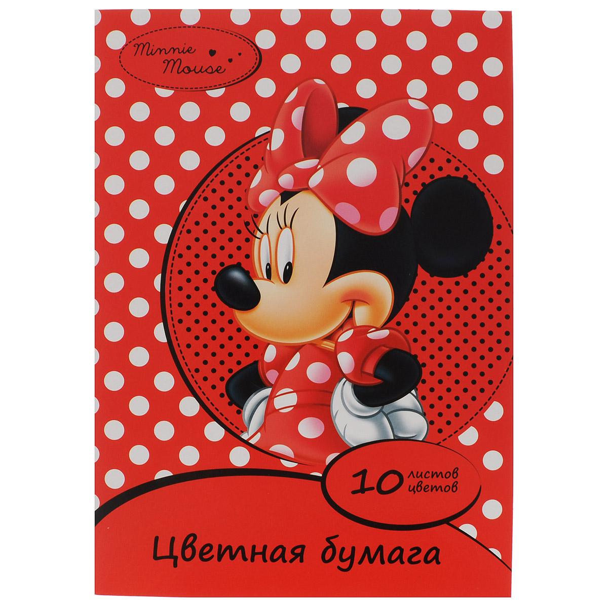 """Цветная бумага Disney """"Минни"""", 10 цветов 25382"""