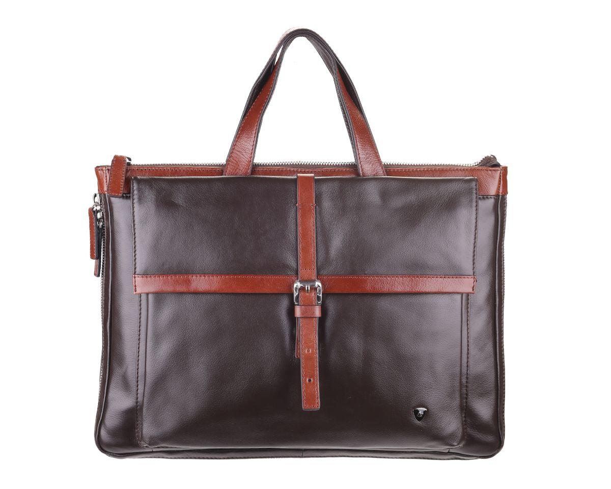 Сумка мужская Leo Ventoni, цвет: темно-коричневый, коричневый. 0300221303002213-t.moroМужская сумка Leo Ventoni выполнена из натуральной кожи. Модель имеет одно основное отделение, которое закрывается на застежку-молнию. Внутри находится два прорезных открытых кармана, два держателя для авторучки, прорезной карман на застежке-молнии, пришивной карман на застежке-молнии и пришивной открытый карман. Снаружи на передней стенке находится накладной карман, который закрывается клапаном на магнитную кнопку. На задней стенке располагается накладной карман на застежке-молнии. По бокам и основанию сумка оформлена застежкой-молнией, благодаря которой увеличивается объем модели. Изделие оснащено двумя удобными ручками. В комплект входит текстильный плечевой ремень, который регулируется по длине, и мягкий текстильный чехол на застежке-молнии для планшета или небольшого ноутбука. К сумке прилагается фирменный текстильный чехол для хранения. Этот стильный аксессуар станет изысканным дополнением к вашему образу и отличным подарком!
