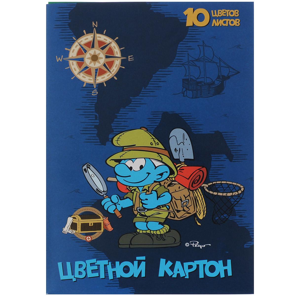 Цветной картон Смурфики, 10 цветов25245Цветной картон Смурфики идеально подойдет для творческих занятий в детском саду, школе или дома. Картон упакован в яркую картонную папку, оформленную рисунком с изображением смурфика. Упаковка содержит десять листов картона разных цветов (оранжевый, зеленый, желтый, черный, синий, фиолетовый, красный, коричневый, золотой и серебряный). Создание поделок и аппликаций из картона - это увлекательный досуг, который позволяет ребенку развивать свои творческие способности. Рекомендуемый возраст: от 3 лет.