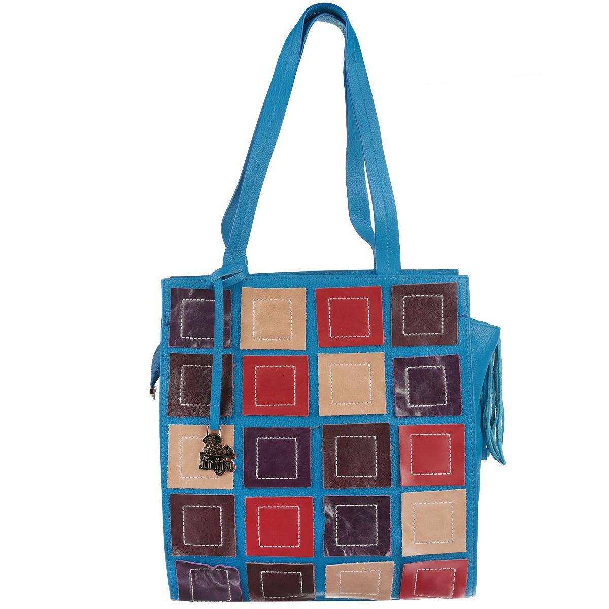 Сумка женская Frija, цвет: голубой, синий, красный. 21-0111-13