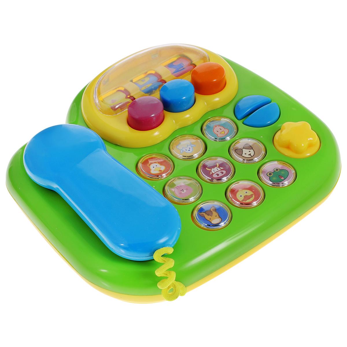 Игрушка Mioshi Музыкальный телефонTY9056Игрушка Mioshi Музыкальный телефон не оставит равнодушным вашего малыша, заранее привлекая его внимание радужной окраской и крупными, разноцветными кнопочками, а также веселой музыкой с имитацией звуков животных. Удобная для детских ручек игрушка способствует развитию мелкой моторики, восприятия формы и цвета предметов, а также слуха и зрения. Дети в раннем возрасте всегда очень любознательны, они тщательно исследуют все, что попадает им в руки. Заботясь о здоровье и безопасности малышей, Mioshi выпускает только качественную продукцию, которая прошла сертификацию.