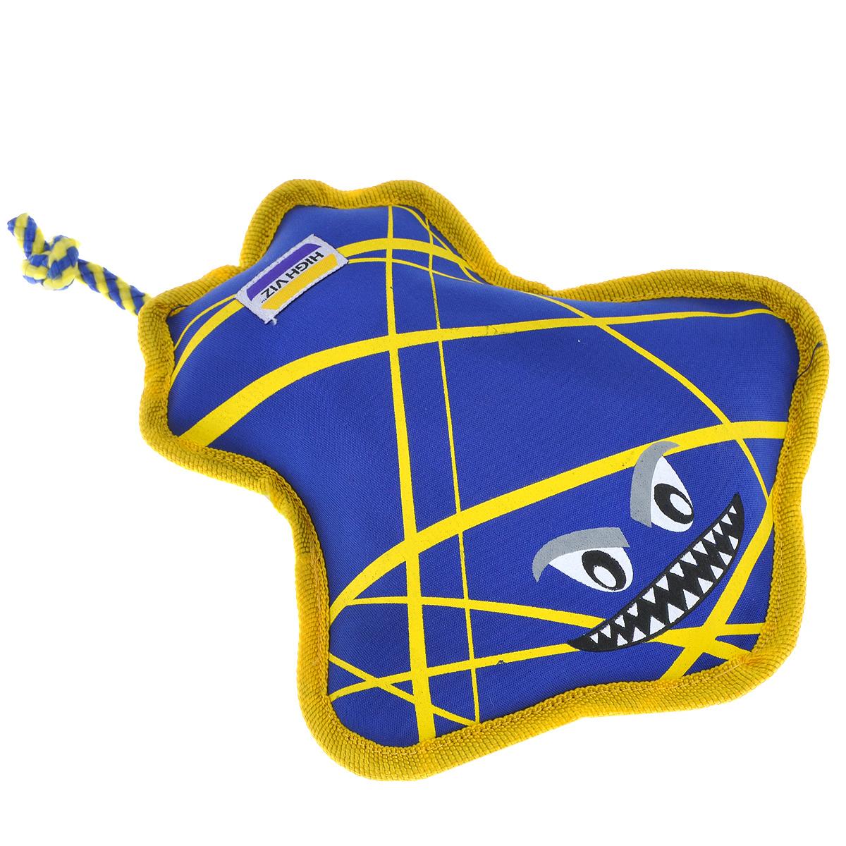 """Игрушка для собак R2P Pet """"High-Viz. Скат"""", плавающая, цвет: синий, желтый. 0153"""