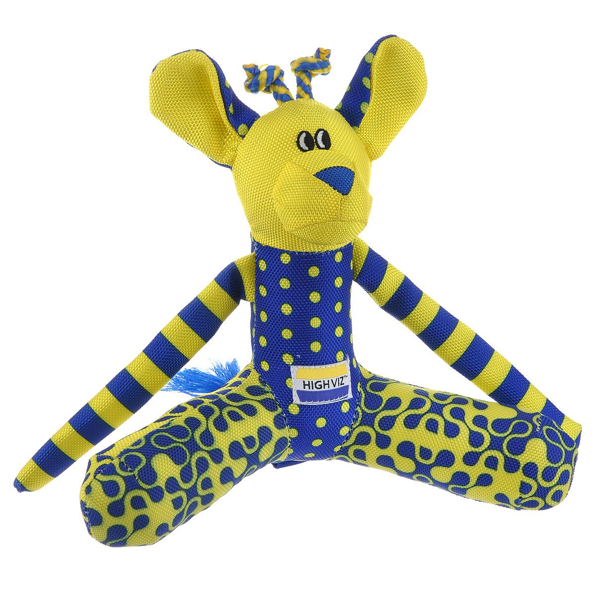 Игрушка для собак R2P Pet Кенгуру, цвет: желтый, синий417Игрушка для собак R2P Pet Кенгуру - прекрасный подарок для вашего питомца! Игрушка выполнена из текстиля и полиэстера. Собаки воспринимают цвет не так, как человек. Игрушки серии High-Viz разработаны с учетом особенностей зрения собак - сочетание желтого и сине-фиолетового цвета является оптимальным и повышает видимость игрушки. Высококонтрастные расцветки наиболее подходят для глаз собак, стимулируют их внимание и привлекают к игре. Такая игрушка привлечет внимание вашего любимца и обязательно ему понравится.