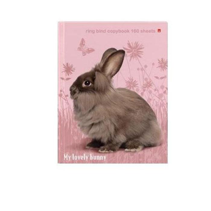 Тетрадь на кольцах со сменным блоком Милый кролик, цвет: бежевый, розовый, 160 листов. 7-160-081/39 Д7-160-081/39 ДТетрадь формата А5 Милый кролик выпускается в твердом негнущемся переплете из качественного картона. Механизм крепления внутреннего блока на кольцах - универсальное решение, позволяющее варьировать структуру, изменяя порядок страниц. В комплект входит блок из 160 листов белой бумаги в клетку без разметки на поля.