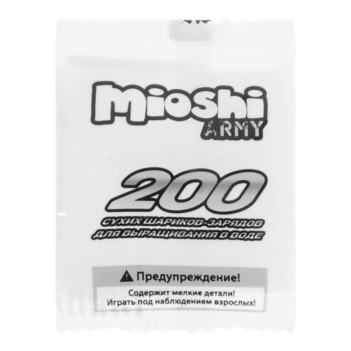 Набор гелевых шариков Mioshi Army, 200 штMAR1105-006Гелевые шарики Mioshi Army станут отличным дополнением для уже имеющегося бластера, автомата или пистолета от Mioshi Army. Не забудьте позаботиться о том, чтобы у вас всегда хватало патронов для игры! Вы можете приобрести дополнительный набор сухих гелевых шариков из безопасного водного полимера. В каждом пакете 200 шариков .