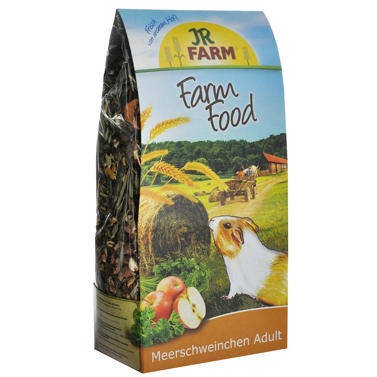 Корм для морских свинок JR Farm Farm Food Adult, 750 г36904Корм для морских свинок JR Farm Farm Food Adult - это уникально подобранная и сбалансированная полнорационная смесь с натуральными фруктами. Такая смесь обеспечит вашу морскую свинку натуральной (как в естественной среде) диетой. Фарм комплекс поддерживает микрофлору кишечника с помощью пребиотика инулина (из корней пастернака), а экстракт юкки предотвращает развитие запаха от мочи. Корм JR Farm Farm Food Adult для взрослых животных содержит все питательные вещества, витамины и минералы, необходимые для полноценной жизни взрослого животного. Данная смесь - превосходный выбор для ежедневного сбалансированного и полноценного питания! В этот корм специально так же был добавлен зеленый овес и яблочные чипсы - любимое лакомство морских свинок. Рекомендации по кормлению: наполняйте кормушку, когда она уже пуста. Пожалуйста, обеспечивайте животное таким количеством корма, которое он съедает в течение 24 часов. Полнорационный корм для морских свинок. ...