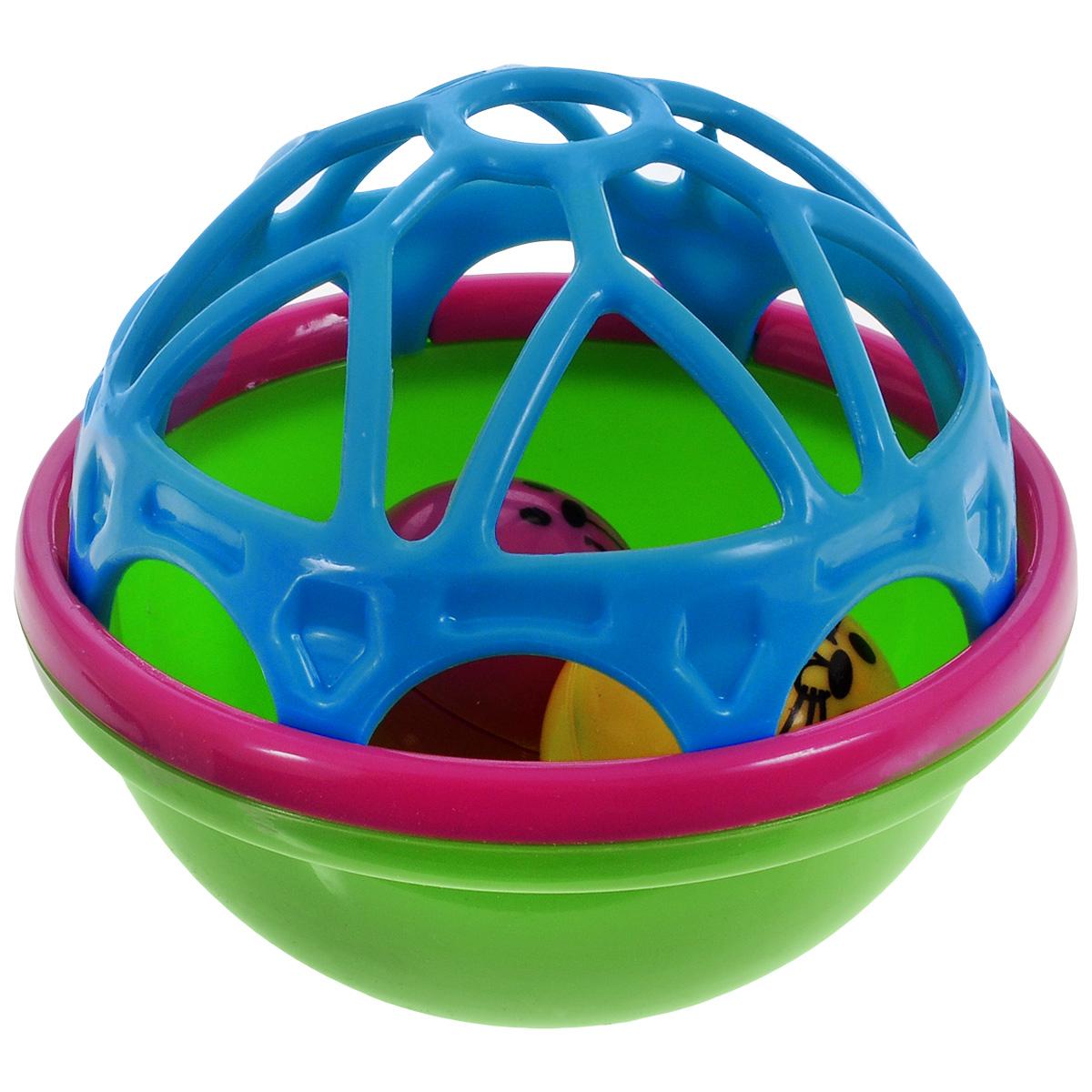 Погремушка для ванной Mioshi Лучшие друзьяTY9066Благодаря игрушке для ванной Mioshi Лучшие друзья обычное купание можно превратить в увлекательную игру! Яркая погремушка Лучшие друзья поможет вашему малышу научится фокусировать внимание, даст первые представления о категориях формы и цвета, поспособствует развитию слуха, зрения и мелкой моторики. Игрушка приятна на ощупь и имеет удобную для захвата маленькими пальчиками эргономичную форму. Забавные гремящие звуки издают шарики, вращающиеся в центре погремушки. Выполнена погремушка из прочного, экологически чистого и высококачественного материала, абсолютно безопасного для детской игры.