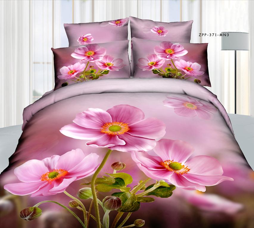Комплект белья 3D Mango, 2-спальное, наволочки 70х70, цвет: розовый, сиреневый, зеленый. M-605-175-180-70M-605-175-180-70Комплект постельного белья Mango является экологически безопасным для всей семьи, так как выполнен из высококачественного сатина (100% хлопка). Комплект состоит из пододеяльника на молнии, простыни и двух наволочек. Постельное белье оформлено ярким рисунком цветов с эффектом 3D и имеет изысканный внешний вид. Сатин - производится из высших сортов хлопка, а своим блеском, легкостью и на ощупь напоминает шелк. Постельное белье из сатина превращает жаркие летние ночи в прохладные и освежающие, а холодные зимние - в теплые и согревающие. Благодаря натуральному хлопку, постельного белье из сатина приобретает способность пропускать воздух, давая возможность телу дышать. Одно из преимуществ материала в том, что он практически не мнется и ваша спальня всегда будет аккуратной и нарядной.